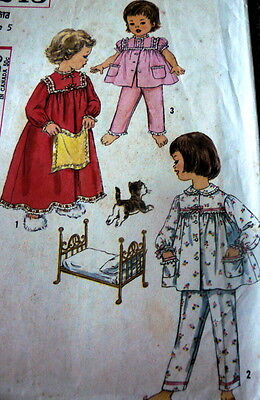 LOVELY VTG 1950s GIRLS PAJAMAS & NIGHTGOWN Sewing Pattern 5