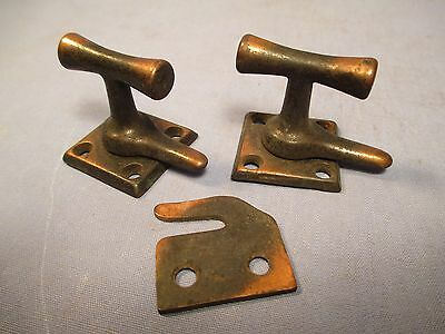 Antique Pair of Window Locks - Copper & Black Finish /    JU 129