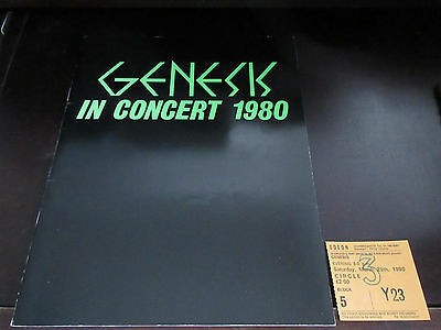 Genesis in Concert 1980 UK Tour Book w Ticket  Phil Collins Mike & The Mechanics