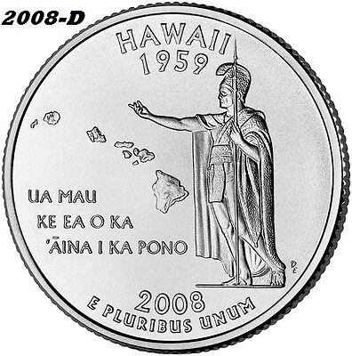 2008-D Hawaii Uncirculated State Quarter - I Have All P&d State Quarters