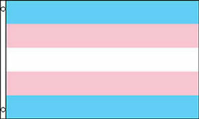 New Transgender Flag 5 x 3 FT - 100% Polyester With Eyelets  - Gay Pride Trans