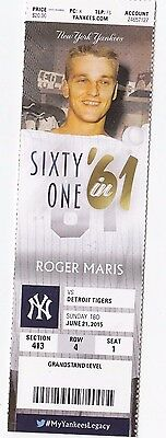 2015 NEW YORK YANKEES VS DETROIT TIGERS Ticket Stub 6/21 J.D. MARTINEZ 3 HR GAME