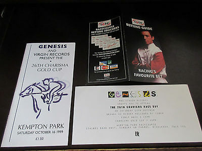 Genesis & Virgin Records 26th Charisma Gold Cup Horse Racing Program in 1999