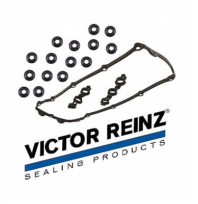 For BMW Victor Reinz OEM German Valve Cover Gasket Set w/ 15 Bolt Seals E46 E39