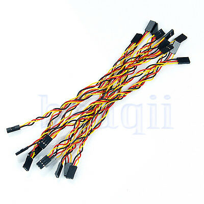 10pcs 3pin 20cm 2.54mm Female to Female jumper wire Dupont cable for Arduino FA