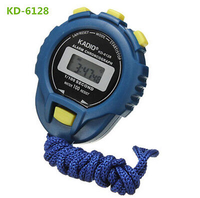 LCD Chronograph Digital Timer Stopwatch Sport Counter Odometer Watch Alarm ILK