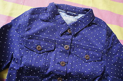 NEW Johnnie B Boden Denim Jacket - Age 15 to 16 years - Navy Pin Dot - RRP £35