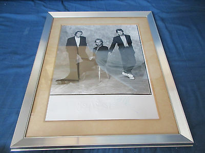 Genesis Framed Signed Promo Photo Phil Collins Mike & The Mechanics