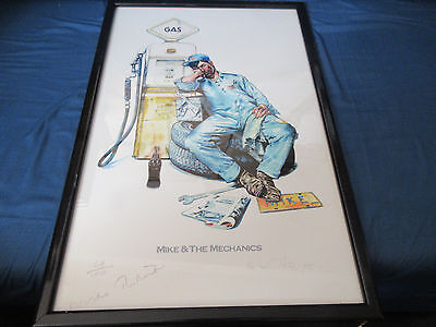 Mike & The Mechanics Framed Signed Artwork Mike Rutherford Hits Genesis
