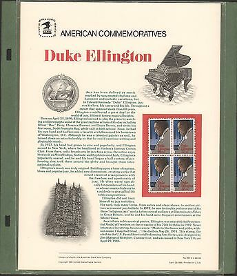 2211 DUKE Ellington 1986 #262 SEALED  JAzz Musician