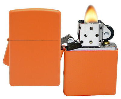 Zippo Lighter 231 Orange Matte Windproof Classic Theme NEW