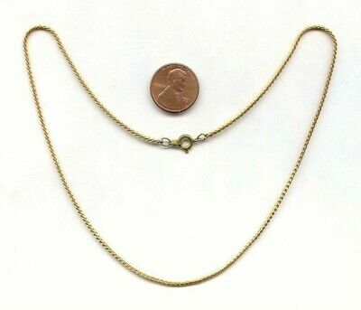 "3 VINTAGE SOLID BRASS ROUND CUT 1.5mm. SERPENTINE CHAIN 15.5"" NECKLACES X212"