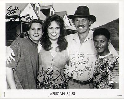 1993 *african Skies* Tv Series Signed Promo Photo B