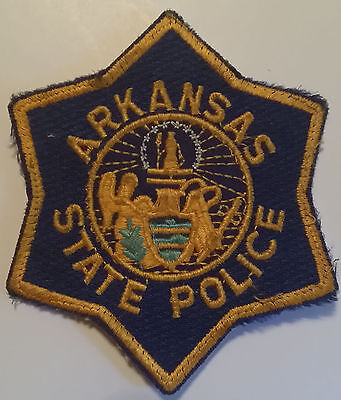 Arkansas State Police Patch - Smaller Size - Excellent Condition!