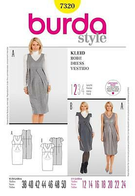 BURDA SEWING PATTERN LADIES Maternity dress silhouette 12 - 24 7320