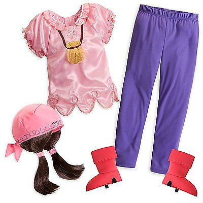 Disney Store Jake And The Never Land Pirated Izzy Halloween Costume Girl 5/6