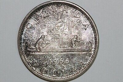 Great Value On A 1966 Canada Silver Dollar That Grades Mint State (CAN160)