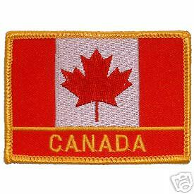 Quality Embroidered Canada World Flag Emblem Patch