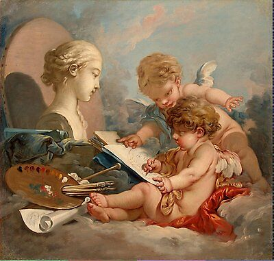 "Cupids Allegory of  Painting by Francois Boucher Oil Painting repro 30""x40"""