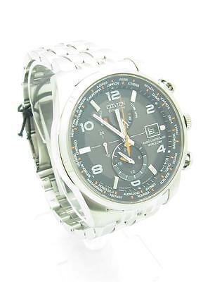 "Citizen Men's AT9010-52E ""World Time A-T"" Stainless Steel Eco-Drive Watch New"