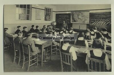 tp3624 - Geography Class , Banbury County School c1930 - reproduction postcard