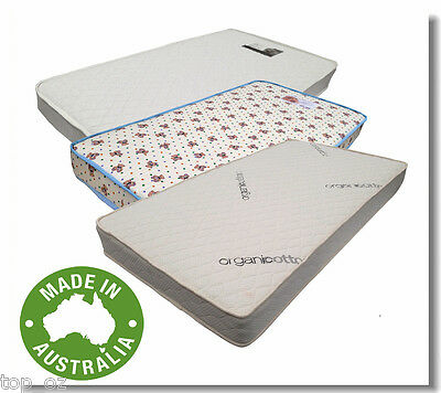 Brand New Australia Made Cot Mattress in Foam/Inner Spring/Organic Cotton