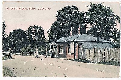 SURREY - CPC - PHOTO OF 1870 - THE OLD TOLL GATE, ESHER, 1907