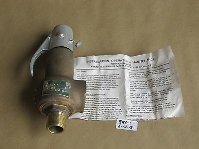 "New Watts Regulator/advance Valve  Safety Relief Valve 1"" Brass F41A  Set:60 Psi"