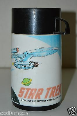 WOW Vintage 1979 Scarce Canadian STAR TREK Plastic Thermos C7.5+ Rare