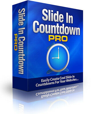 Easily Increase Your Sales With These Slide In Countdown Timers -Software on CD