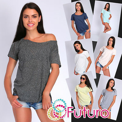 Ladies Versatile Casual Top Long Sleeve Boat Neck Tunic T-Shirt Size 8-12 FT485
