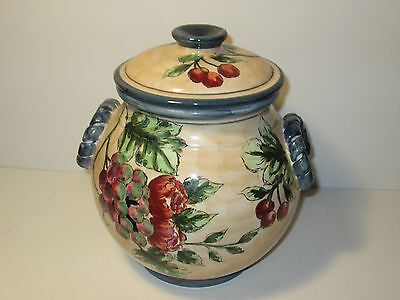 MagnificentFood and Floral Harvest Design Cookie Jar with Lid