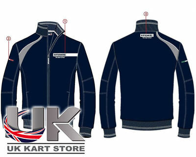Iame Blue / Grey Racing Full Zip Sweat Shirt All Sizes UK KART STORE