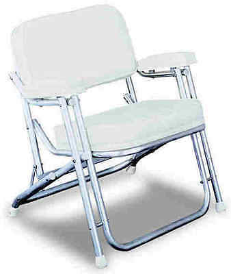 Wise WD120 Folding Deck Chair White 8556