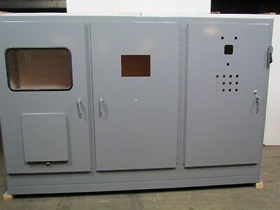 "72""x117-1/2""x 18""D 3 Door Electrical Enclosure Cabinet Box w/30A Disconnect"