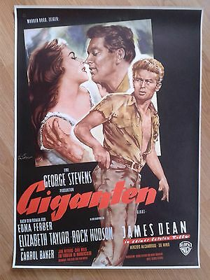GIANT - JAMES DEAN rare UNFOLDED German 1-sheet 1950s Liz Taylor ROCK HUDSON