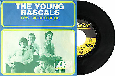 """THE YOUNG RASCALS It's Wonderful/Of Course 1967 France Single 7"""" Atlantic PS"""