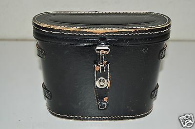 WOW Nice Vintage Black Leather Binoculars Case Only Japan Rare FAIR