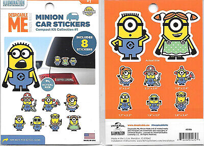 Despicable Me Evil Kevin Minion Figure Peel Off Car Sticker Decal NEW UNUSED