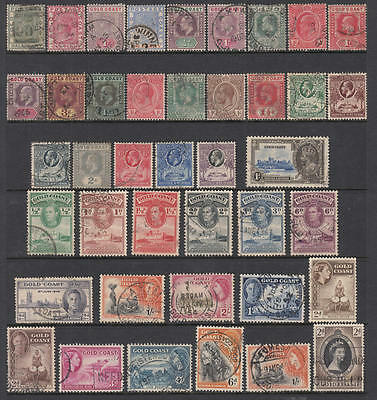 Gold Coast used collection 39 diff stamps
