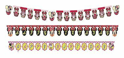HAPPY BIRTHDAY BANNER - Range of MINNIE MOUSE Designs (Decoration/Party/Kids)