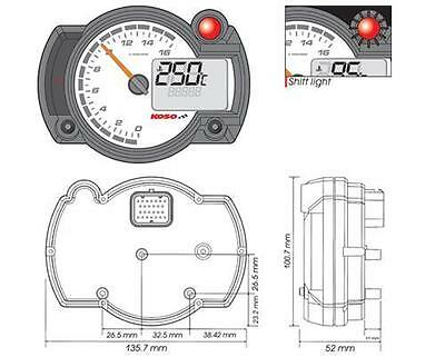 Road Race Koso Instrument cluster