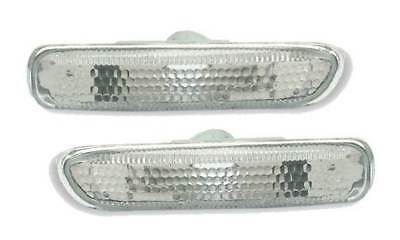 For BMW 3 Series E46 Coupe 1998 - 2001 Clear Side Repeaters Indicators 1 Pair