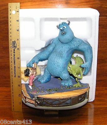 Disney's Monsters Inc. Mike, Sully and Boo Markrita Figurine w/ Certificate