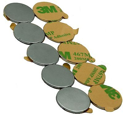 """3/4"""" x 1/16"""" Disc Magnets - Adhesive Backed"""