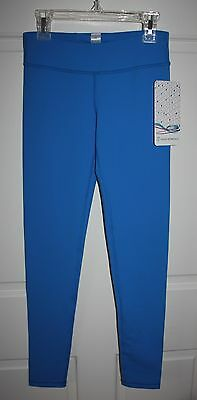 NWT Girls Ivivva Athletica Rhythmic Blue Run In The Sun Crops Pants Size 10
