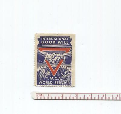 YMCA Stamp World Service International Good Will Stamp