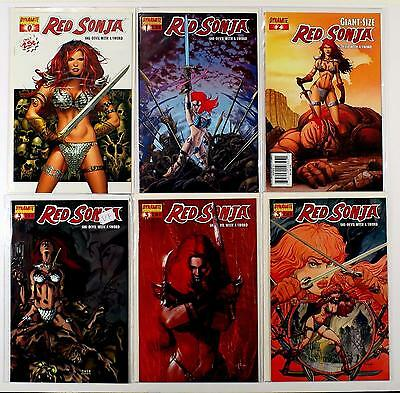 Red Sonja She-Devil With A Sword Lot Of 6 Comics #0 1 2 Giant-Size 3 3 3 (Vf/nm)