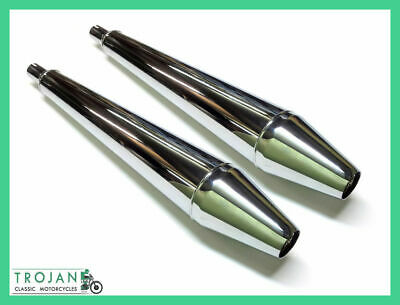 Muffler, 'whistlers' For Triumph 750 Twins 1973 On, T150, T160 (Pair) Exh0088