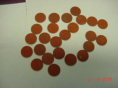 25 OPA Red Point WWII Tokens